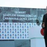 Cumhurbaşkanı Erdoğan, Çanakkale Deniz Zaferi Törenlerine Katıldı