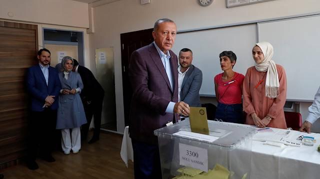 erdoğan oy kullandı