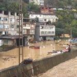 Artvin Borçka'da Aşırı Yağış Sonucu Sel ve Heyelanlar Meydana Geldi