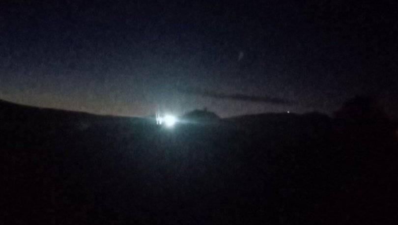 trabzon'a göktaşı meteor
