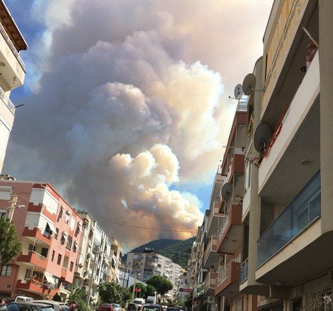 izmir Balçova yangın