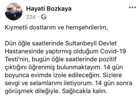 hayati Bozkaya chp Sultanbeyli