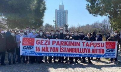 gezi parkı chp Beyoğlu