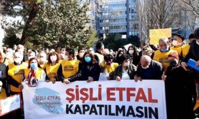 Sağlık Çalışanları Ve Halk Eylemde: 'Şişli Etfal Hastanesi Kapatılmasın'