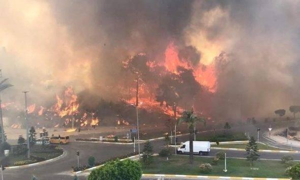 Manavgat k2 haber yangın