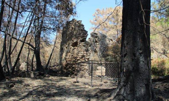 lyrbe antik kent Manavgat yangın