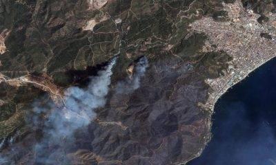 Marmaris yangın uydu görüntüsü
