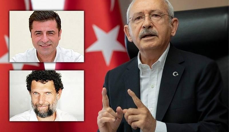 Kemal Kılıçdaroğlu Osman Kavala Selahattin Demirtaş